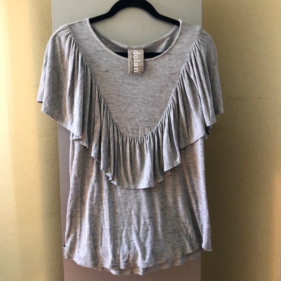 f1d460a5aa8b8 Anthropologie Tops | Dolan Left Coast Collection Ruffle T | Poshmark